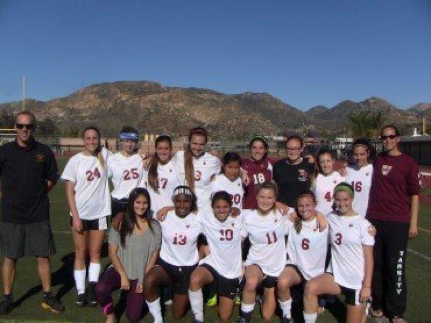 TPHS Varsity Girls Soccer Team