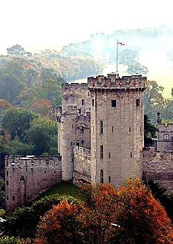 Warwick Castle, seen from the tower of St. Mary's Church, is in what was then predominantly Catholic countryside.