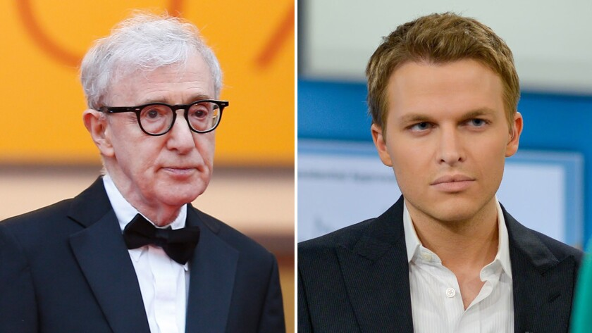 Woody Allen, left, and Ronan Farrow.