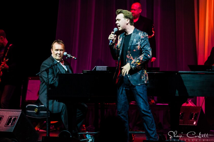 """Father and son entertainers Terry and Nick Davies in """"Piano Men: Generations — The Music Of Billy Joel & Elton John."""""""