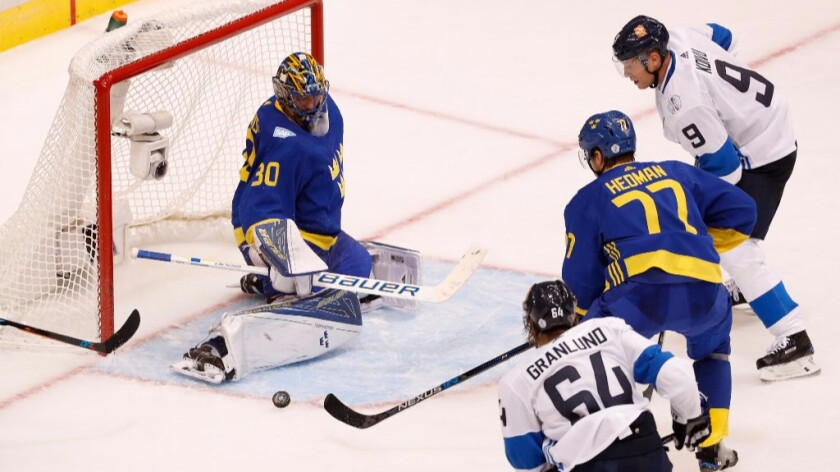 World Cup of Hockey: Sweden beats Finland, 2-0