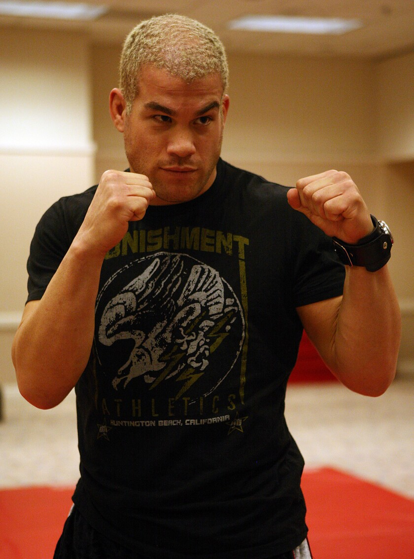 MMA fighter Tito Ortiz, seen here in 2006, was arrested Monday on suspicion of DUI after crashing his Porsche on the 405 Freeway.