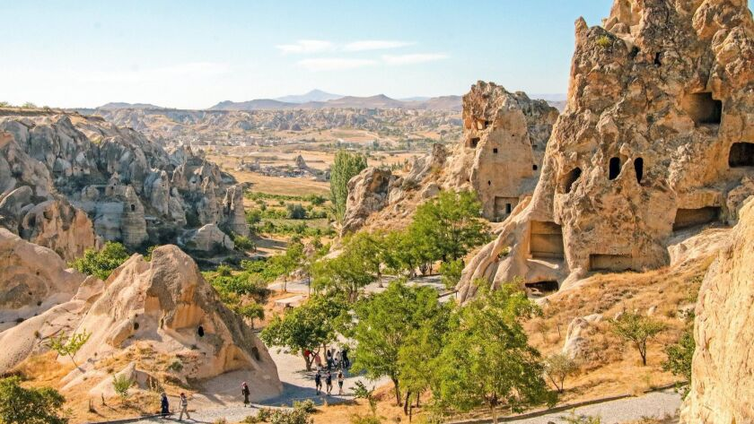 The Goreme Open Air Museum is a complex of rock-carved churches and a UNESCO heritage site.