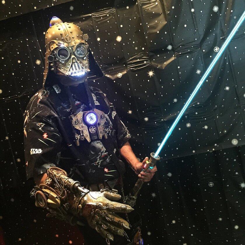 Dude Vader will be roaming La Jolla on Halloween starting at Pannikin Coffee & Tea, 7467 Girard Ave.