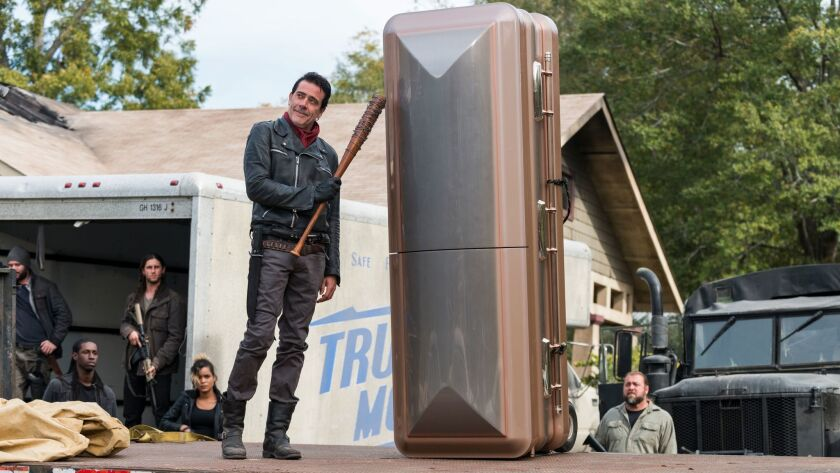 Jeffrey Dean Morgan as Negan - The Walking Dead _ Season 7, Episode 16 - Photo Credit: Gene Page/AM