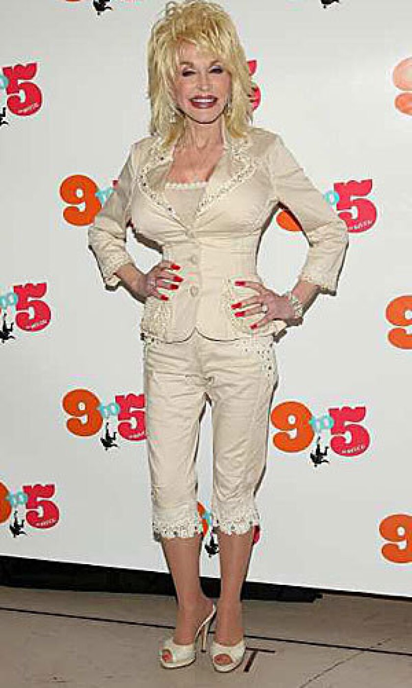 """DOLLY PARTON: The singer helped when the first """"9 to 5"""" preview had glitches."""
