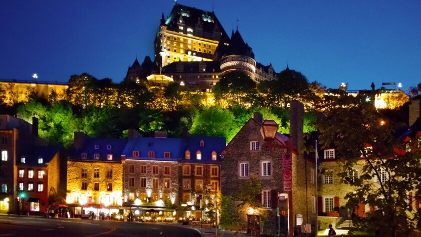View from Lower Old Town, Quebec City Canada