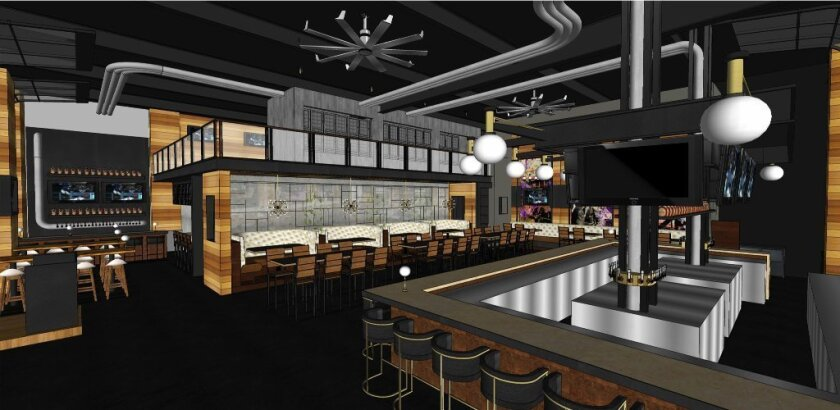 A rendering of Westroot Tavern, set to open in the Village at Pacific Highlands Ranch in March.