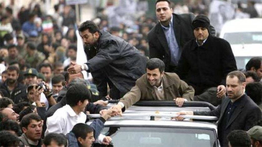 "SAVORING 'VICTORY': President Mahmoud Ahmadinejad is feted in Iran's Ilam province. ""Today, Iran has turned to a nuclear country and all world countries have accepted this fact,"" he said. Some Arab analysts fear Iran will step up interference in the region."