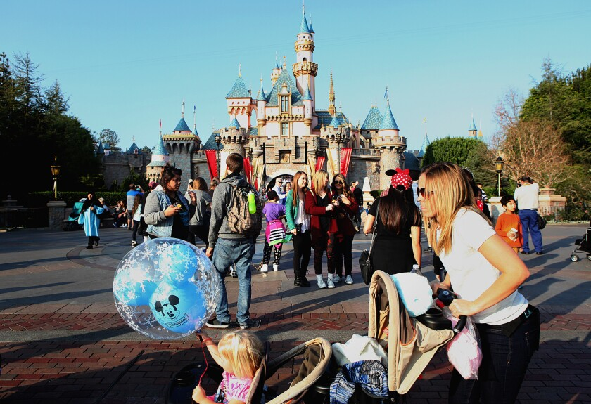 It's likely that a person with measles visited Disneyland in Anaheim between Dec. 17 and 20, exposing others to the virus, health officials have said. Above, the park in January.