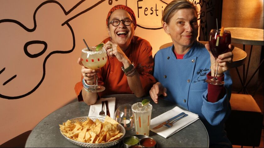 From left, Border Grill chef-owners Susan Feniger and Mary Sue Milliken are the first women to win the Julia Child Award.