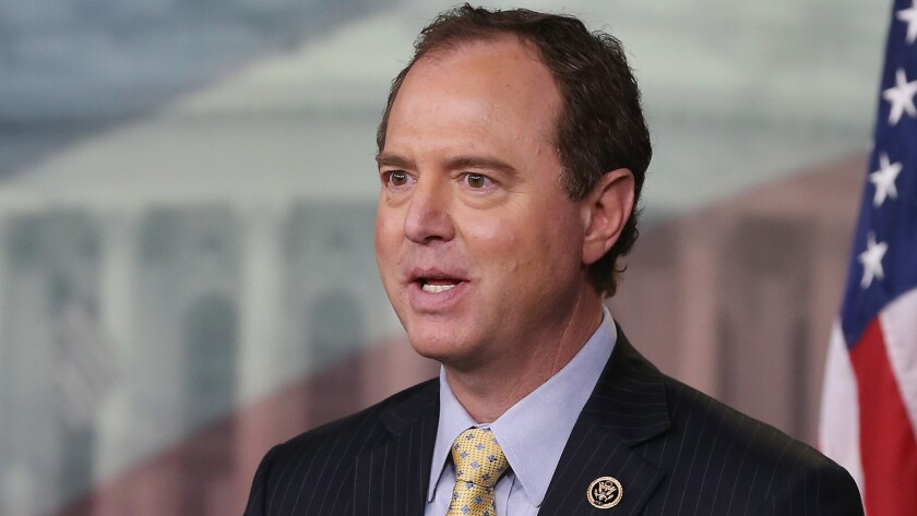 Rep. Adam Schiff (D-Burbank) is pressing the Trump administration about a whistleblower complaint involving the president.