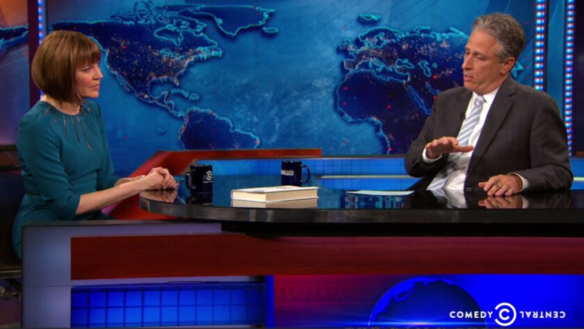 """Judith Miller defended her reporting to Jon Stewart on """"The Daily Show."""""""