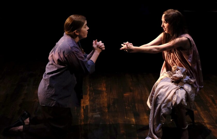 "Kristin Woodburn (left) and Nicolette Shutty in ""Little Elephant."""