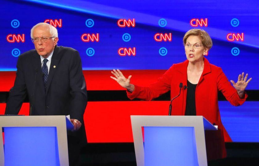 Sens. Bernie Sanders of Vermont and Elizabeth Warren of Massachusetts were among only four Democratic candidates for the presidential nomination who advocated abolishing private health insurance during the first round of debates on July 30 and 31. The others were Sen. Kamala Harris of California and New York Mayor Bill de Blasio.