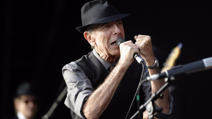 """Leonard Cohen, shown performing in 2008, was best known to pop audiences for his song """"Hallelujah."""""""