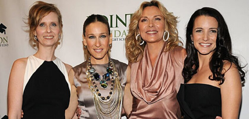 """Cynthia Nixon, left, with """"Sex and the City"""" co-stars Sarah Jessica Parker, Kim Cattrall and Kristin Davis."""