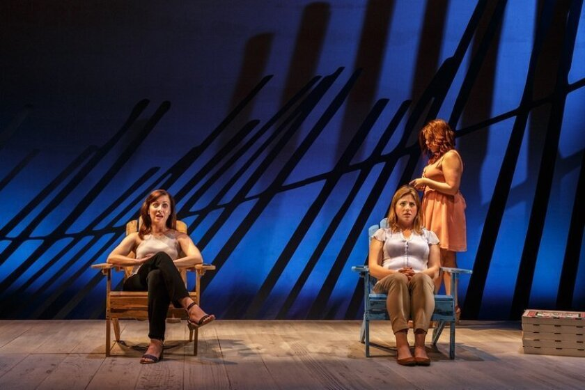 "A scene from ""Three Women in Four Chairs,"" part of UC San Diego's 2015 Wagner New Play Festival."
