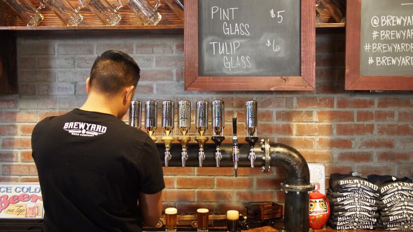 Brewyard Beer Co. in Glendale is one of six new tasting rooms that has opened recently in the Southern California area.