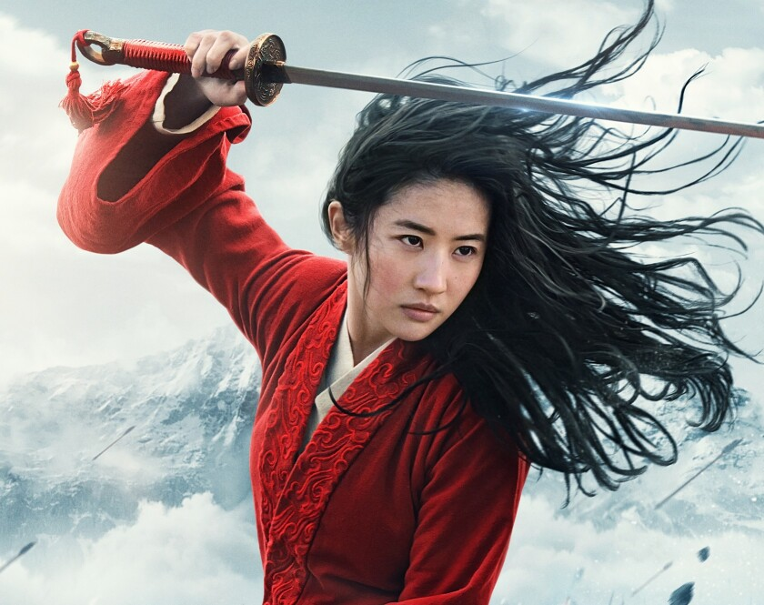 "Liu Yifei in Disney's ""Mulan,"" which debuted on Disney+ for $30 in the U.S."