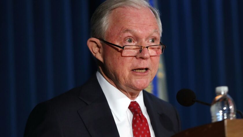 Atty. Gen. Jeff Sessions on Thursday in New York City.