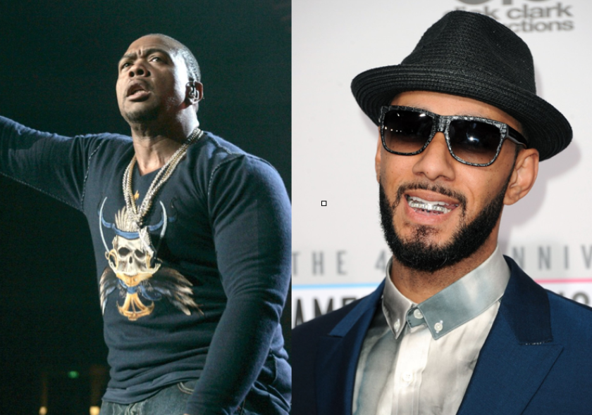 The producers Timbaland, left, and Swizz Beatz helped popularize DJ battles between hip-hop and R&B songwriters on Instagram Live for the quarantine era.