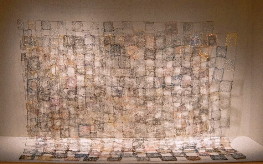 Review: 'Hard Edged' art at California African American Museum widens perception of black artists' work