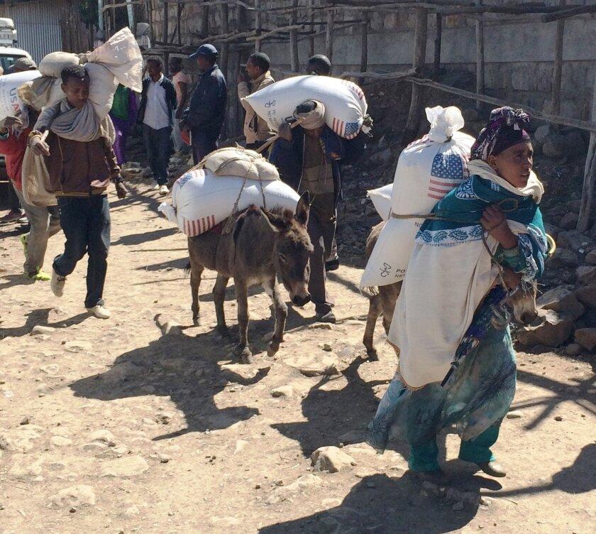Ethiopia U.S. food aid