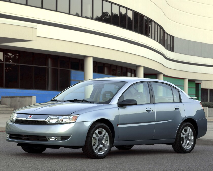 This 2003 Saturn Ion is one of six GM models the automaker has recalled after 12 deaths have been linked to the vehicles' faulty ignition switch. On Thursday, a safety watchdog group said that number could be as high as 303.