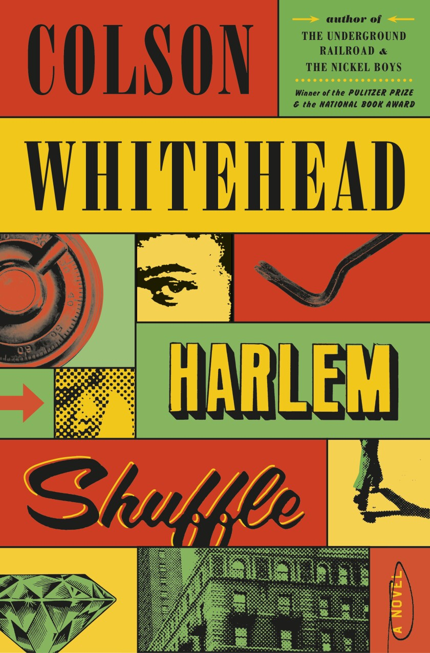 """Book cover by """"Harlem Shuffle"""" by Colson Whitehead"""