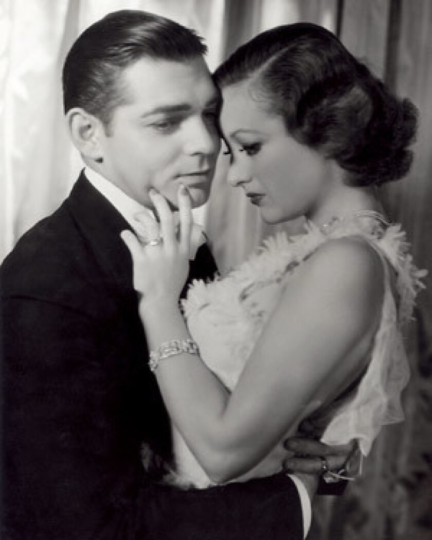 """GLAMOUR: George Hurrell's photograph of Clark Gable and Joan Crawford for MGM's 1933 film """"Dancing Lady"""" is part of an exhibition at the Santa Barbara Museum of Art celebrating the John Kobal Foundation."""