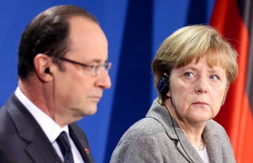 French President Francois Hollande and German Chancellor Angela Merkel have different visions for the European economy.