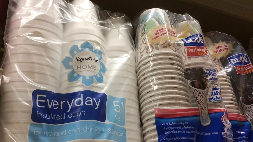 Consumers in San Francisco will no longer be able to purchase foam cups and other polystyrene products.