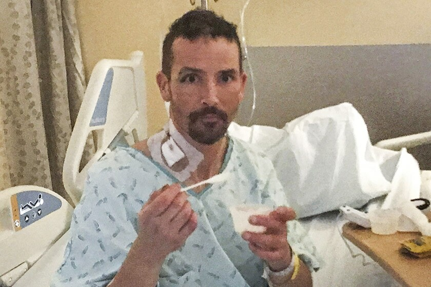 Michael Knapinski, 45, is recovering at Harborview Medical Center in Seattle.