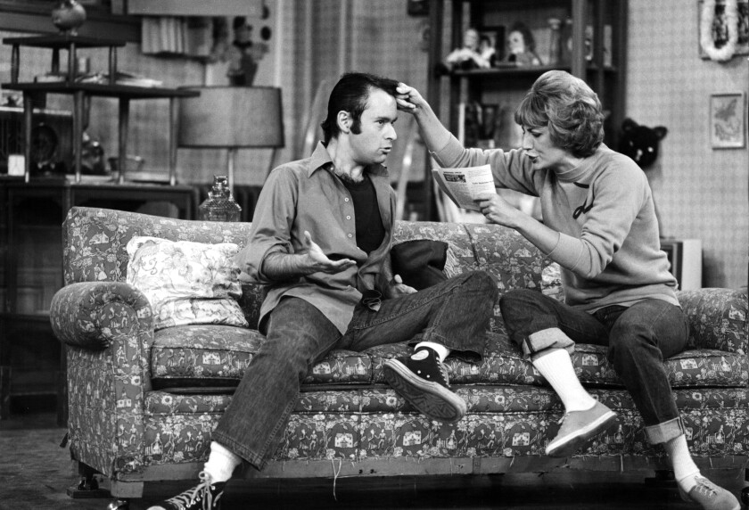 """David L. Lander and Penny Marshall in """"Laverne & Shirley."""""""