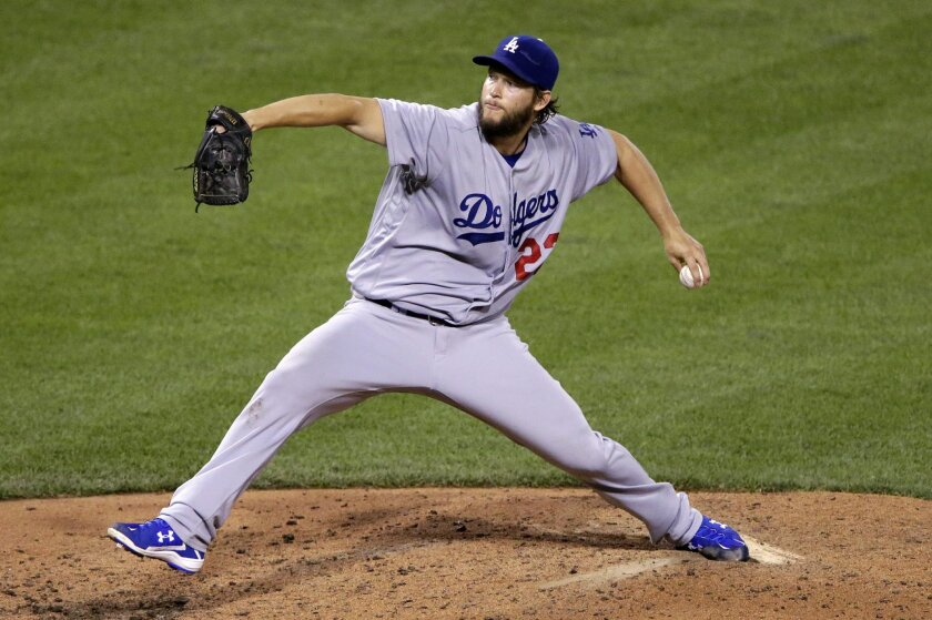 FILE - In this June 26, 2016, file photo, Los Angeles Dodgers starting pitcher Clayton Kershaw delivers during the fifth inning of a baseball game against the Pittsburgh Pirates in Pittsburgh. After Kershaw had a follow-up examination on his sore back, the Dodgers said they remain unsure when the t