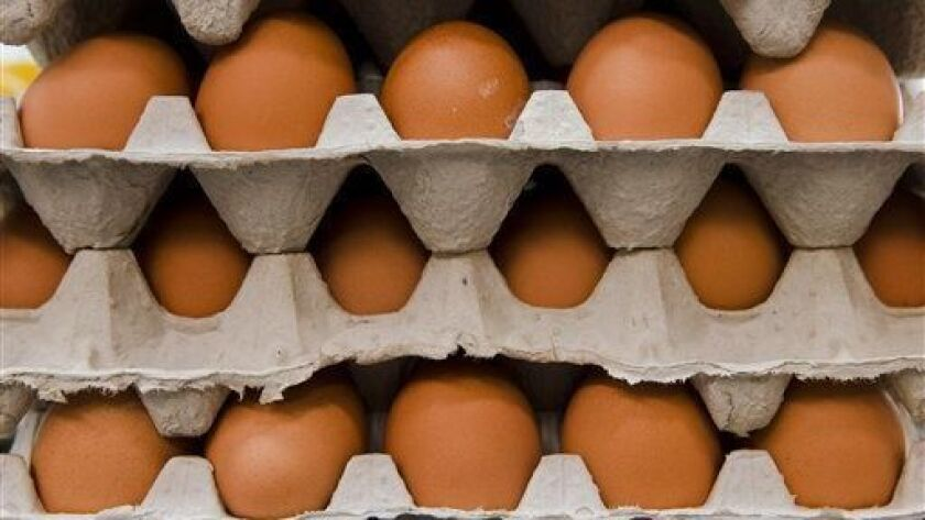 Eggs are stacked next to the grill Tuesday, June 24, 2014, at Jefferson University Hospital's cafete