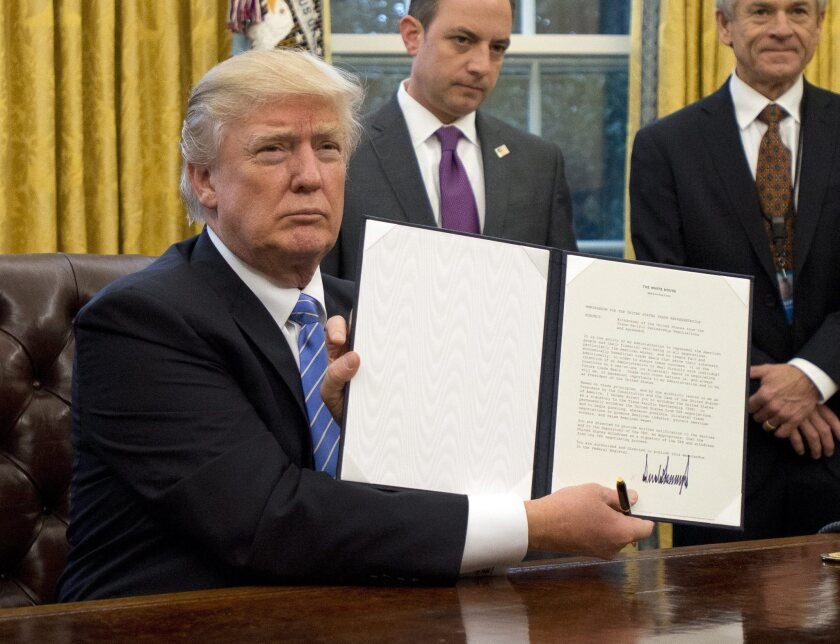 Trump signs three executive orders