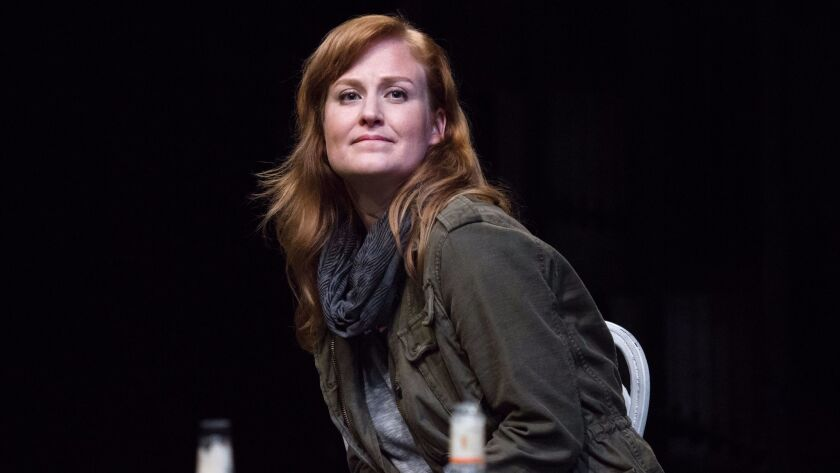 """Heidi Armbruster in the La Jolla Playhouse production of """"At the Old Place."""""""