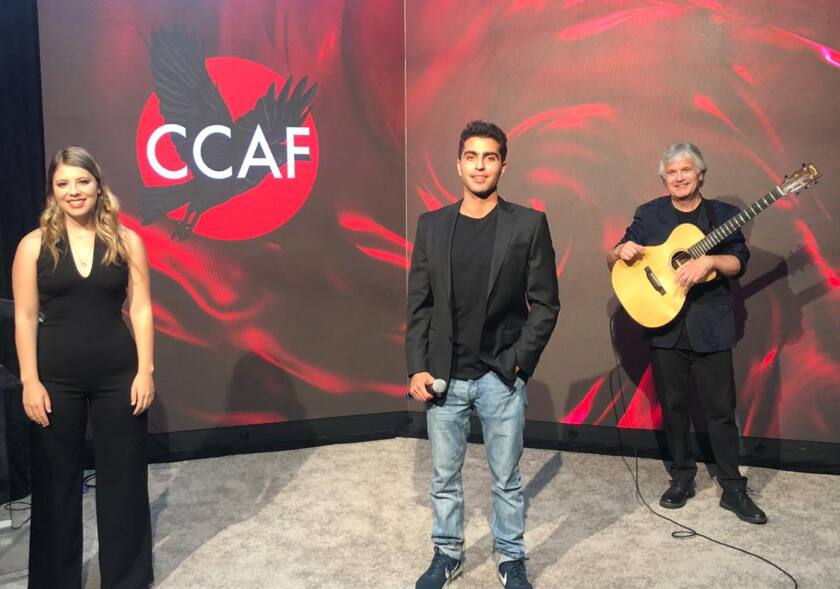 """Virtual Gala LIVE"" with Anna the auctioneer, David Ahmadian, and two-time Grammy winner Laurence Juber."
