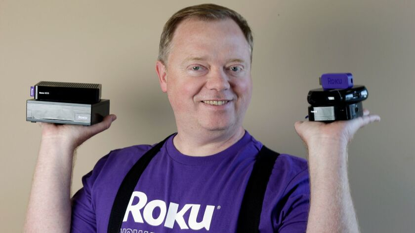 Roku -- headed by Anthony Wood, shown in 2014 -- says it will offer about 18 million shares of stock at $14 apiece.
