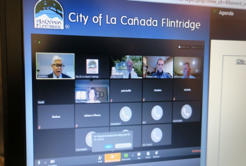 The La Cañada Flintridge City Council held a remote meeting Tuesday to discuss how to help community members impacted by the novel coronavirus, as eight local cases have been identified.