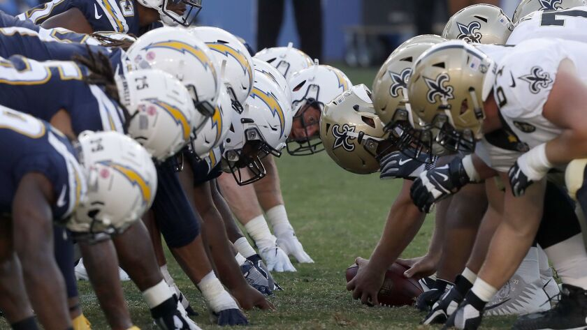 Chargers and New Orleans Saints face off in a preseason game at StubHub Center in Carson on Saturday.