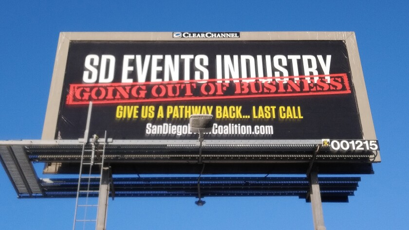 The San Diego Event Coalition has launched a new campaign featuring billboards.