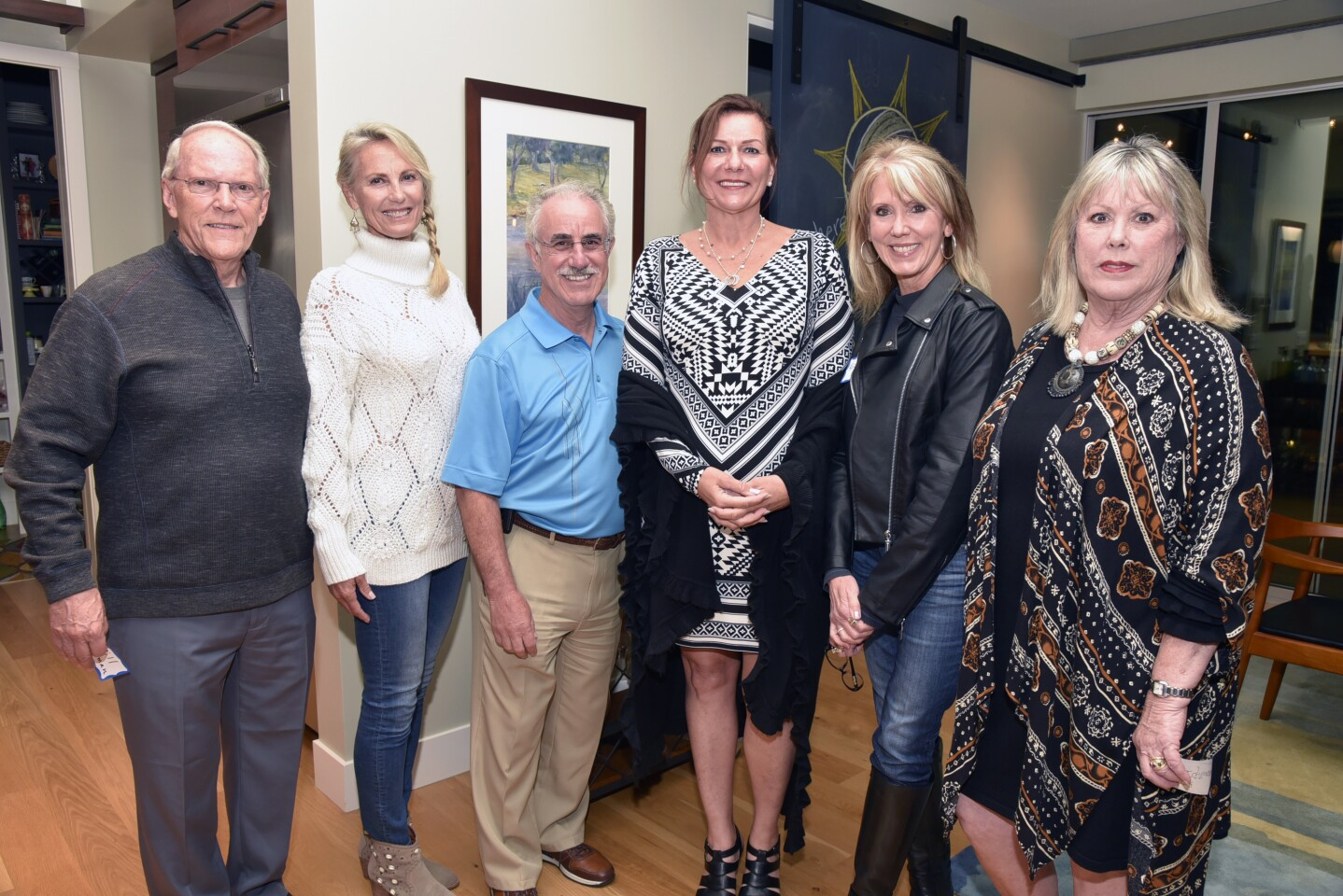 Bill Harman, host Andra Moran, Kerry Witkin, Sherry Yardley, Roz Mancinelli, Suzy MacGillivray