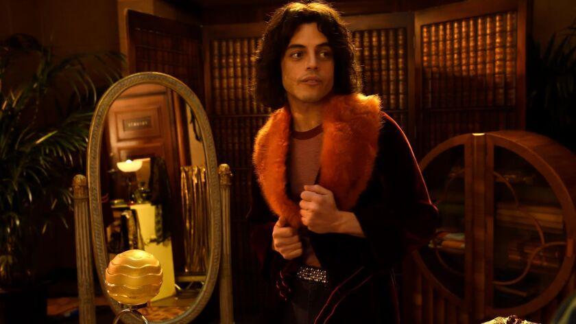 "Rami Malek as Freddy Mercury in ""Bohemian Rhapsody"" movie."