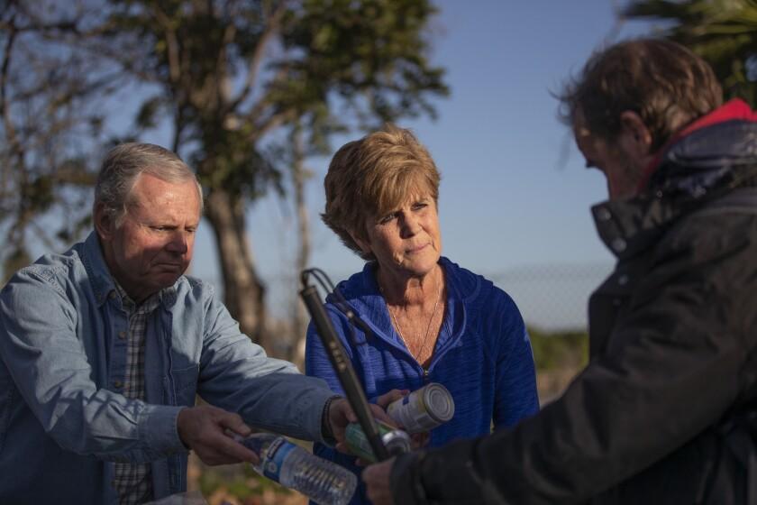 DANA POINT, CALIF. -- WEDNESDAY, FEBRUARY 27, 2019: Volunteers Glenn Wood, left, and Jeanne Karcher