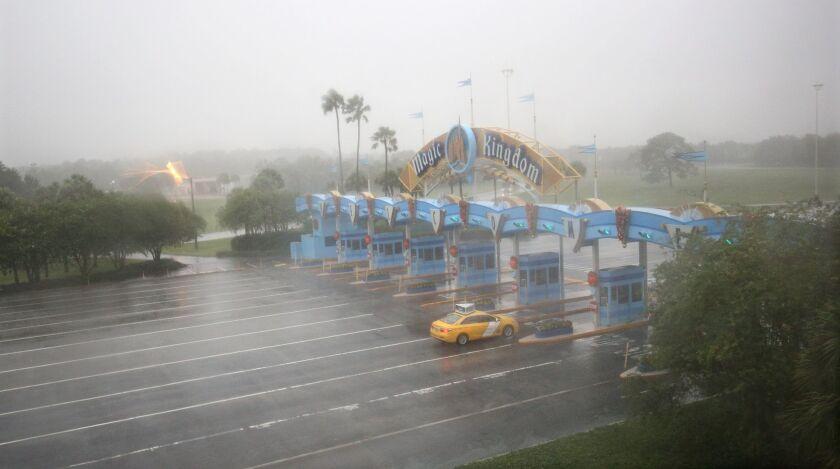 Walt Disney World's Magic Kingdom shut early Thursday ahead of Hurricane Matthew's punishing winds and rainfall. The resort reopened its parks Saturday.