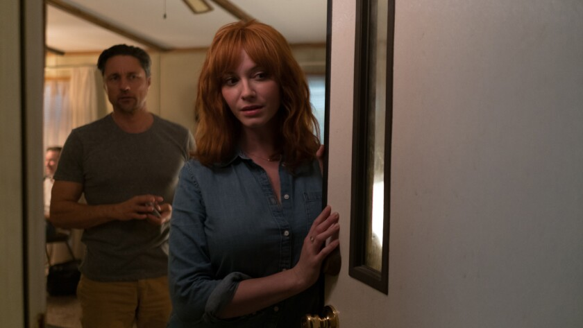 "Martin Henderson and Christina Hendricks face masked killers in the stylish '80s throwback ""The Strangers: Prey at Night."""