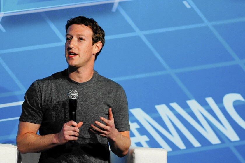 Facebook CEO Mark Zuckerberg earned top billing Monday at the Mobile World Congress in Barcelona, Spain, his highest profile yet at the industry's largest trade show.